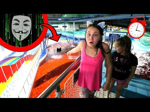 PROJECT ZORGO 24 HOUR WATERPARK CHALLENGE!! (Hacker REVEAL & Mystery Clues)