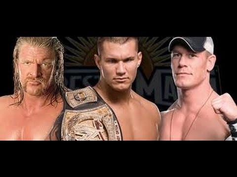 John Cena vs Randy Orton vs Triple H Wrestlemania 24 ...  John Cena vs Ra...