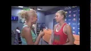 Русское интервью Марии после 3 круга US Open 2012