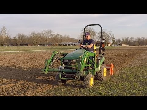Tilling 3 Acre Yard with Sub Compact Tractor; John Deere 1025R Tackles Huge Landscaping Project!