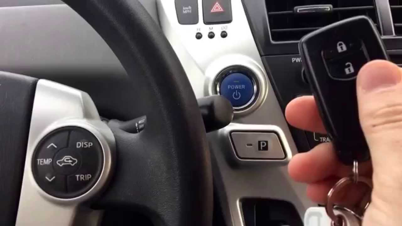 How To Start A Toyota Prius With Dead Battery In The Smart Key Fob