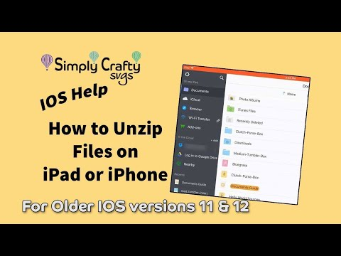 Unzip files on iphone