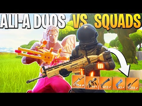 iTemp + Ali-A DUO Vs. SQUADS! - PS4 Fortnite Duos Vs. Squads Gameplay!