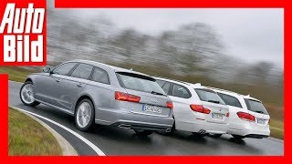Audi A6 Avant vs. BMW 520d Touring vs. Mercedes E 250 T-Modell