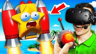 Escaping Remote Island With SECRET STARFISH JETPACK (Funny Island Time VR Gameplay)