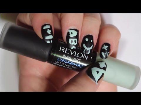Revlon Nail Art Chalkboard How To Youtube