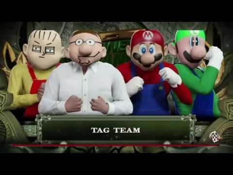 WWE 2K16-Family Guy v Mario Bros (Tag Team Tournament)
