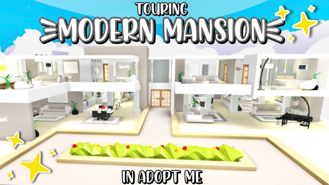 Glitch Build Modern Mansion House Tour In Adopt Me Aesthetic Cute Roblox Adopt Me Youtube