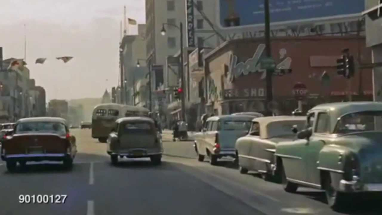 Driving Hollywood Blvd 1957