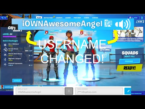 HOW TO CHANGE YOUR EPIC GAMES USERNAME 2020 (Fortnite ...