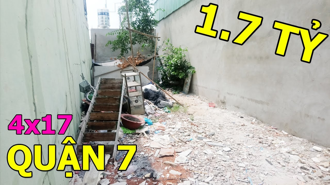 Bán Đất Thổ Cư Tại Quận 7 Hẻm 160 Nguyễn Văn Quỳ 4×17 Giá 1 Tỷ 7 Giấy Phép 1 Lầu || Tường Nguyễn