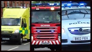 Police, Fire Appliances & Ambulances responding - BEST OF JUNE 2015 -