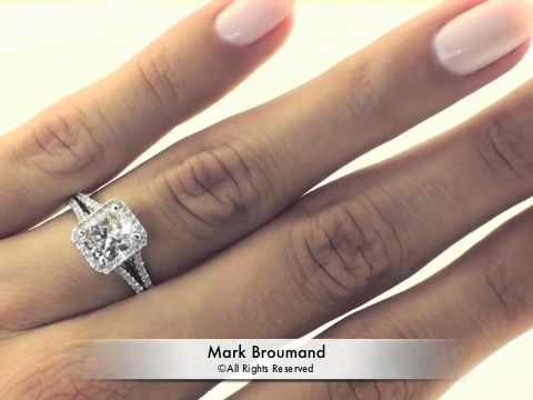 Emerald cut engagement rings with halo