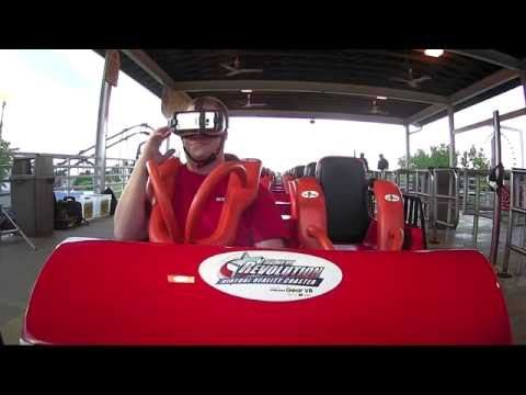 1st Ride New Revolution Virtual Reality Coaster Six Flags St. Louis 052416