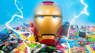 HUGE Iron Man Surprise Helmet Super Hero Toys for Boys Surprise Ooshies Marvel Toys Kinder Playtime