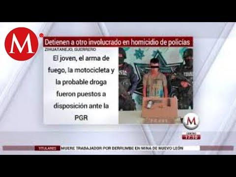 Cae otro implicado en muerte de policías en Guerrero; van 11 detenidos