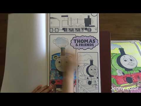 Jenny color crayola color wonder mess free Thomas & friends  speed coloring