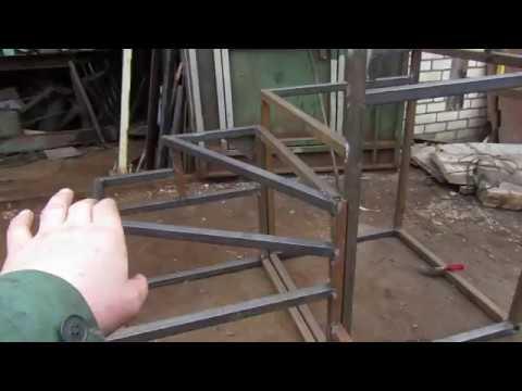 Лестница на второй этаж своими руками из металла с поворотом на 180 фото