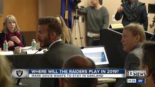 Where will the Raiders play in 2019?
