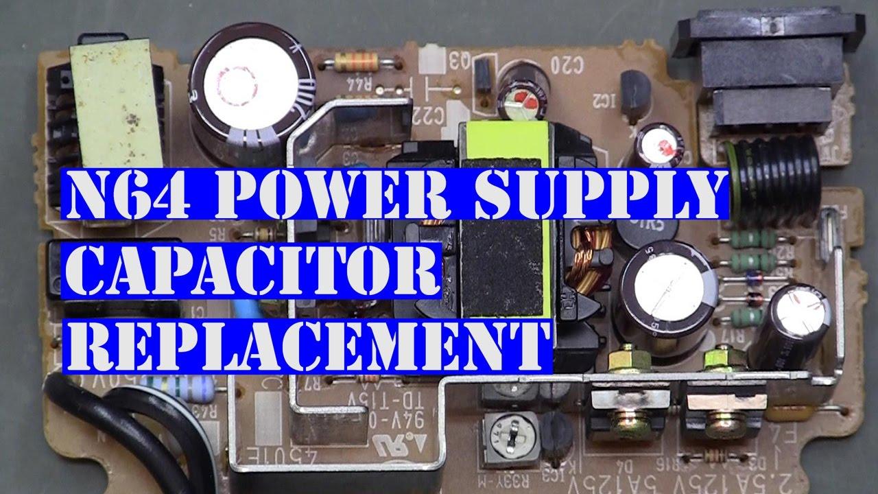 medium resolution of n64 nintendo power supply cap replacement
