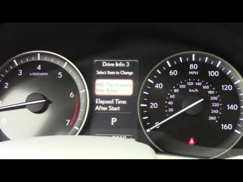 2017 Lexus 350 Dash Multi-Info Screen