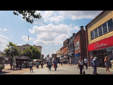 ⁴ᴷ Walking St Albans, England - Cathedral, City Centre & Train Station