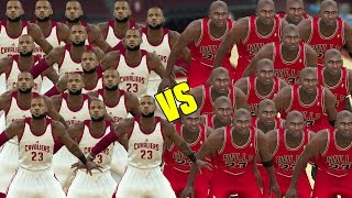 15 LEBRON JAMES VS 15 MICHAEL JORDANS! WHO IS THE G.O.A.T? NBA 2K17 GAMEPLAY!