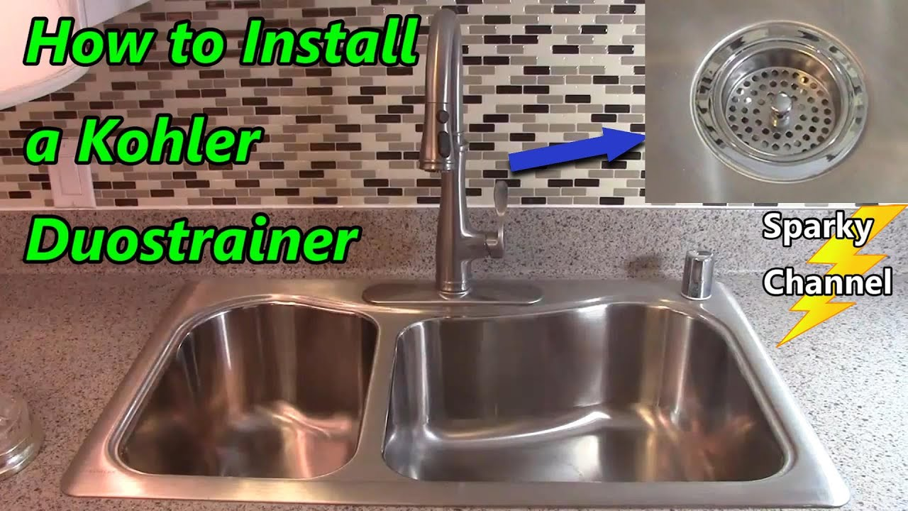 how to install a kohler duostrainer kitchen sink strainer
