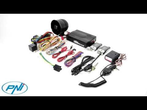 Allarme auto PNI OV288 con 2 telecomandi e modalit/à di blocco centralizzata