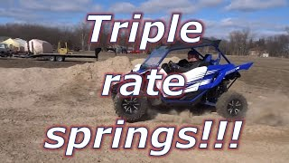 Yamaha YXZ TRIPLE RATE springs test drive!!