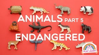 Learning Animals Names and Sounds for Kids - Part 5: Endangered Species