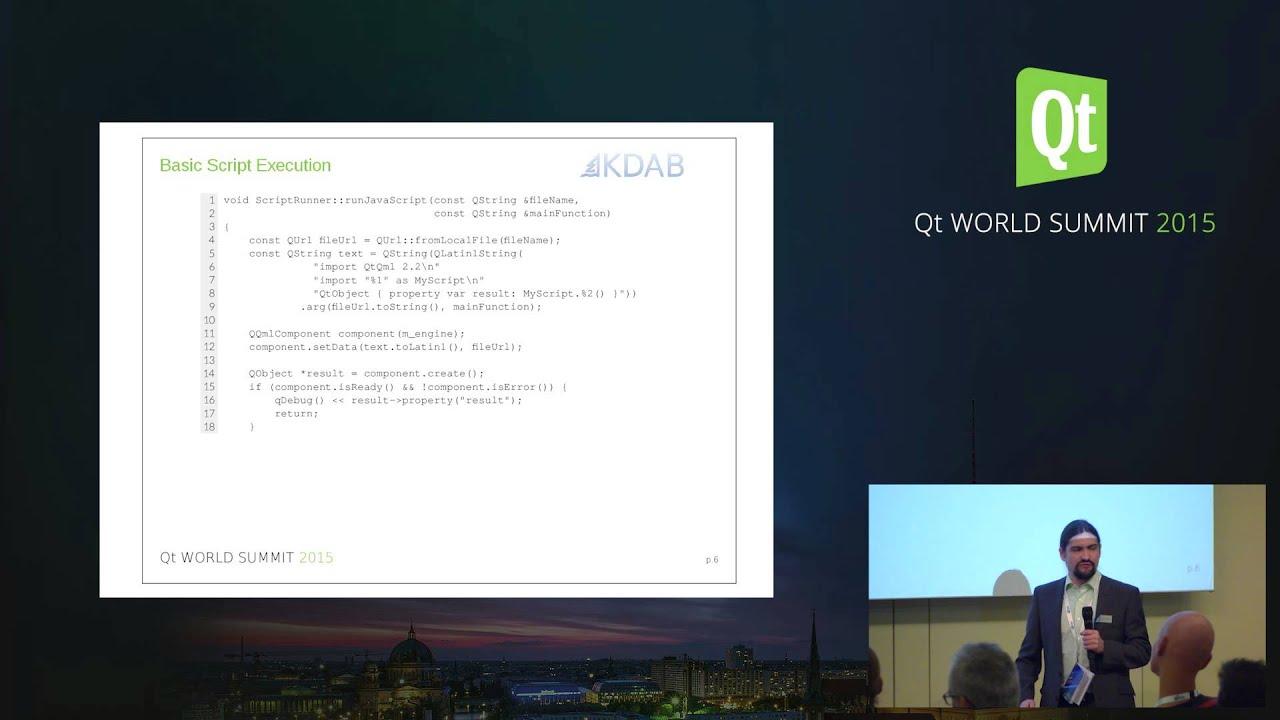 QtWS15- When all goes according to script Qt application development, Kevin  Krammer, KDAB