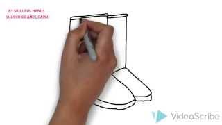 How to Draw an ugg boots / Как нарисовать угги