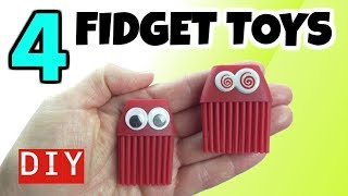 4 AWESOME DIY FIDGET TOYS - DIY TOYS FOR KIDS TO MAKE - HOW TO MAKE COOL TOYS FOR SCHOOL- FUN DIYS