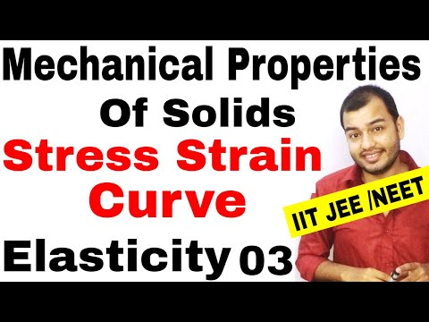 MECHANICAL PROPERTIES OF SOLIDS 03 | ELASTICITY : Stress Strain Curve |Stress Strain Graph JEE MAINS