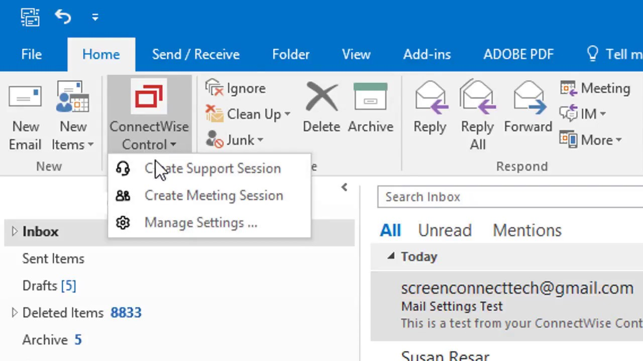 Microsoft Outlook integration - ConnectWise