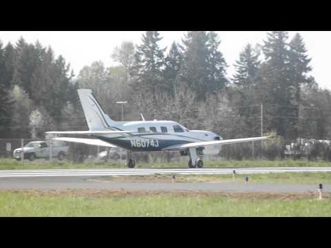 Overweight Takeoff! Piper Malibu Meridian N6074J at Aurora State Airport (KUAO) 4-10-14