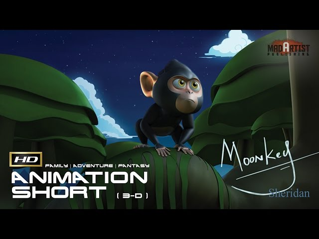 Moonkey (HD) | A super cute and curious monkey gets wet (Sheridan College)