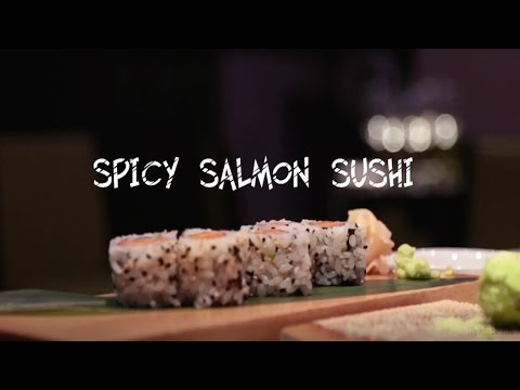 how to make spicy salmon for sushi