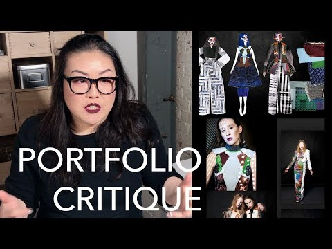 Critiquing a Viewer's Fashion Design Portfolio