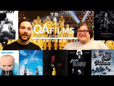 QA Films - Episode 26 - 2017 End of Year Movie Review (Horror - Animation - Action/Adventure)