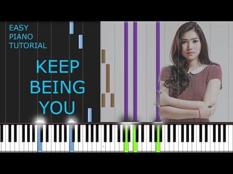 Isyana Sarasvati - Keep Being You - EASY PIANO TUTORIAL STEP BY STEP [ INTRO & CHORUS ]