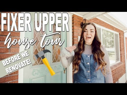 We Bought A House! Our Fixer Upper House Tour Before We Remodel!