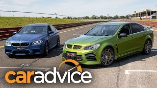 2016 HSV GTS vs BMW M5 Pure - matching claimed 0-100km/h figures