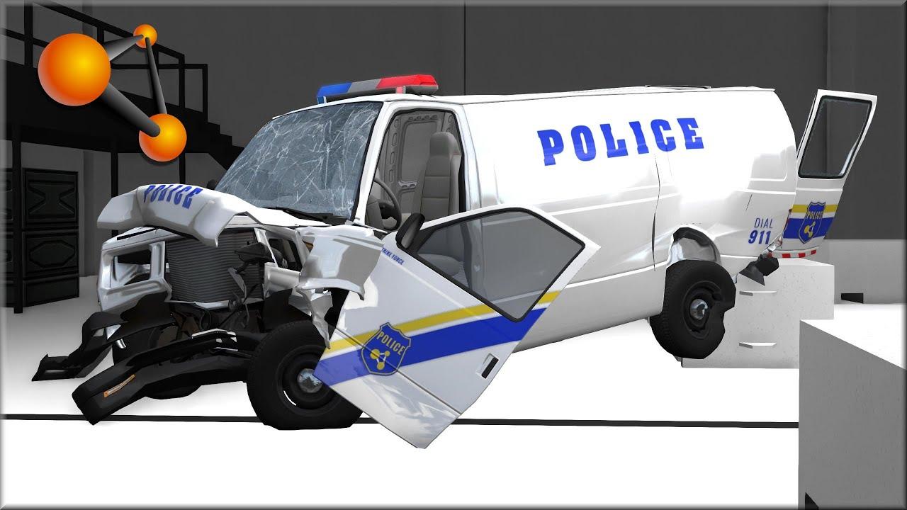 BeamNG Drive Damage Test At 30, 60, 90, 120Mph H15 Vanster V8 #1
