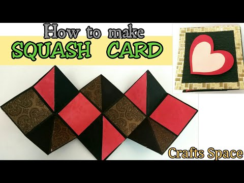 Squash Card Tutorial | How to make a squash card ? | By Crafts Space