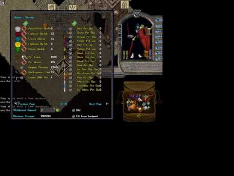Ultima Online: Whispering Pines; Taming a Steel Steed!