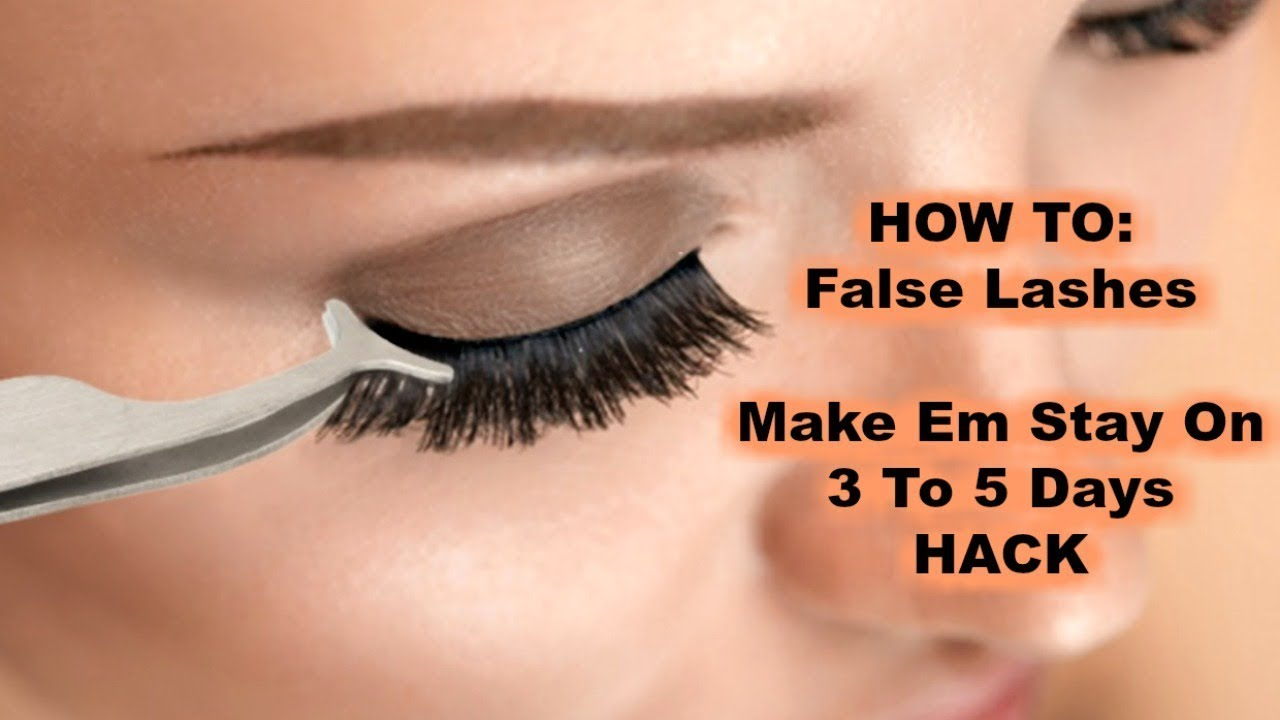 How To False Lashes Make Em Stay On 3 To 5 Days Hack Youtube