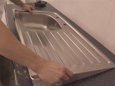 how to install a kitchen sink into a worktop