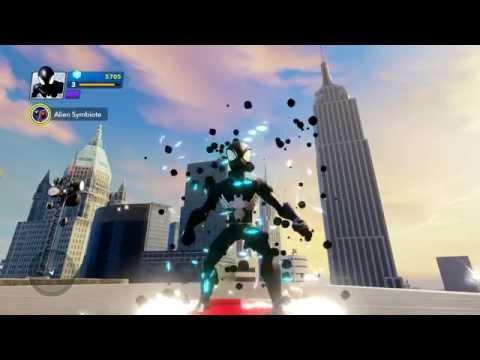 Disney Infinity 2.0 Marvel Superheroes - Alien Symbiote Spider-Man Gameplay  